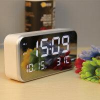 智能闹钟时尚LED电子钟表夜光静音闹钟学生床头钟座简约创意台钟