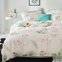 ins纯棉床上四件套1.8公主风少女三件套1.5m床品套件床单被套