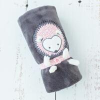 ???婴儿小毛毯秋冬厚款新生儿珊瑚绒盖毯宝宝抱毯盖被小毯子推车毛毯