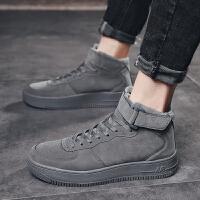 高帮鞋男鞋冬季韩版潮流加绒保暖棉鞋男士棉靴休闲鞋子运动板鞋