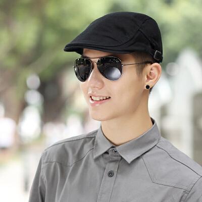 20180821215555347帽子男夏天贝雷帽休闲 鸭舌帽韩版潮前进帽纯色英伦画家帽  可调节 发货周期:一般在付款后2-90天左右发货,具体发货时间请以与客服协商的时间为准