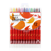慕娜美 蜡笔学生儿童绘画可旋转油画棒棒棒彩12色短款长款 画画笔 油画棒 可水洗