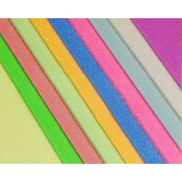 10张混色 彩色吹塑纸16k 约32*22cm吹塑板 益智手工纸 双面彩色剪纸装饰纸版画纸 手工绘画板 版画绘画材料