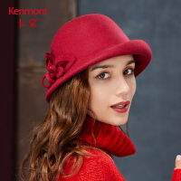 卡蒙全羊毛卷边复古帽子圆顶礼帽英伦冬帽女韩版百搭甜美可爱呢帽2785