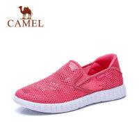 camel 骆驼女鞋春夏新款透气网面乐福鞋套脚女士单鞋平底轻便舒适