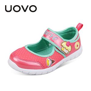 UOVO童鞋2018新款儿童鞋子女童韩版公主鞋中小童休闲鞋女孩网单鞋新安妮尔