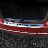 I专用于14-17款沃尔沃s60l s60改装后护板 s60l不锈钢踏板门槛条 红色 14-17款S60L/S60外后