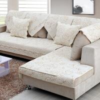 沙发垫四季通用防滑布艺全棉简约现代客厅坐垫沙发套巾罩盖定做