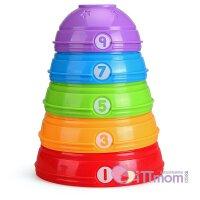 美国费雪叠叠乐婴儿宝宝玩具彩虹圈儿童彩虹塔套圈层层叠6-12个月