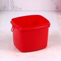 创意塑料红色小桶子喜糖红枣喜蛋桶婚庆喜庆收纳盒