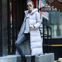 2017反季冬装新款加厚长款过膝韩版迷彩修身棉衣女羽绒外套潮 L 100斤以下