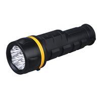 LED强光防水手电筒装2节1号电池橡胶大功率手电筒