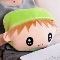 办公室午睡枕头可爱卡通暖手捂抱枕靠垫暖手宝可插手枕暖手筒加厚