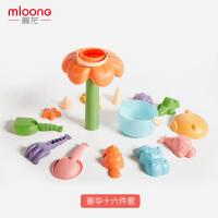 曼龙儿童沙滩玩具套装玩沙子挖铲子工具宝宝戏水洗澡玩具沙滩套装16件套