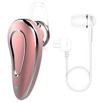 优品 无线蓝牙耳机车载音乐听歌运动跑步 适用于OPPOR9 R11S R15梦境版 A57手 玫瑰金