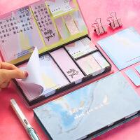 便利贴可爱卡通少女韩国ins学生用古风盒装创意个性搞怪日系小清新便签纸网红记事贴白色简约粘性强小条标记