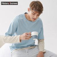 美特斯邦威短袖恤男士2017新款宽松舒适纯棉利发国际lifa88服圆领T恤 S