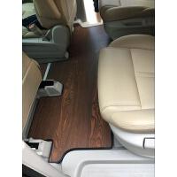 别克gl8实木地板GL8木地板脚垫木质尾箱垫gl8脚垫28T 深卡其布色 栓木色