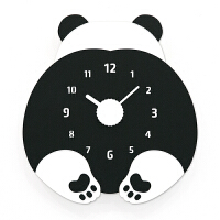 Mandelda钟表挂钟客厅创意现代个性儿童卡通小熊卧室静音家用挂表 黑色 小熊 12英寸