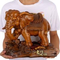 大象摆件一对家居饰品风水客厅酒柜办公室桌面装饰摆设工艺品