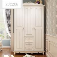 ZUCZUG韩式田园两门衣柜三门衣柜四门实木大衣柜衣橱组合白色