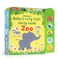 【全店300减100】宝宝的首本发声书动物园 英文原版绘本 Baby's Very First Noisy Book Z