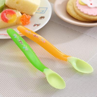 日康感温变色勺米糊匙米粉勺宝宝训练勺子RK3717
