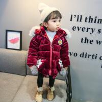 货比迪士尼巴拉巴拉等女童冬装棉衣2017新款1儿童装2韩版3外套洋气4岁女宝宝加厚棉