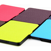 Kindle Paperwhite3保护套 6英寸电子书阅读器皮套休眠外壳 黑色【送磨砂膜】