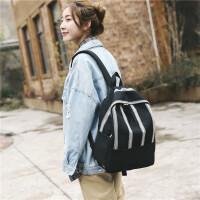 少女书包女高中大学生简约格子双肩包