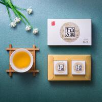 八�R茶�~ 信��普洱茶千山�f寨布朗山普洱茶生茶�Y盒�b8g*2�w