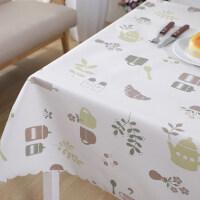 PVC桌布防水防�C防油免洗田�@小清新�L方形餐桌布塑料茶�鬃�|