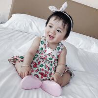 婴儿裙子夏季新生儿女小童韩版无袖背心潮外出夏装宝宝连衣裙