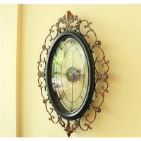 欧式钟表挂钟客厅大号 铁艺创意壁钟复古时钟装饰钟 挂表静音个性 20英寸