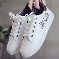 小白鞋女百搭学生文艺清新韩版潮春季平底女童透气运动鞋板鞋单鞋 白色 标准码