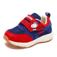 史努比童鞋新款男孩舒适机能鞋