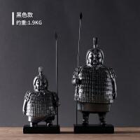 中式摆件家居饰品秦兵马俑摆件复古办公室电视玄关柜个性创意装饰