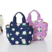 加厚小帆布包手提手拎便当包饭盒包袋时尚午餐布艺包包女包