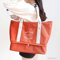 可折叠旅行包便携式可套拉杆箱行李袋大容量双肩收纳包多功能帆布