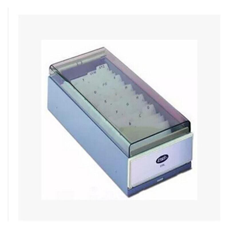 益而高 818L 大号名片盒 商务名片整理盒 收纳盒 约装700张名片