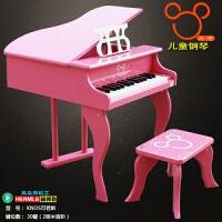 米奇儿童玩具钢琴木质男女宝宝玩具30键机械小钢琴启蒙乐器可弹奏 粉红色 商场同款