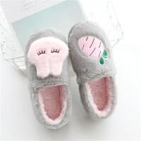 月子鞋秋冬季包跟软底棉托鞋孕妇产后室内厚底保暖居家鞋棉拖鞋女