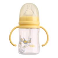 日康奶瓶 宽口PP奶瓶带手柄带吸管婴儿奶瓶180ml母乳实感奶瓶RK3131