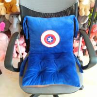 可爱卡通连体坐垫护腰靠垫背一体办公室加厚学生餐椅子屁股座椅垫