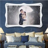 婚纱照水晶相框60寸结婚照放大相框照片制作一体水晶相框挂墙