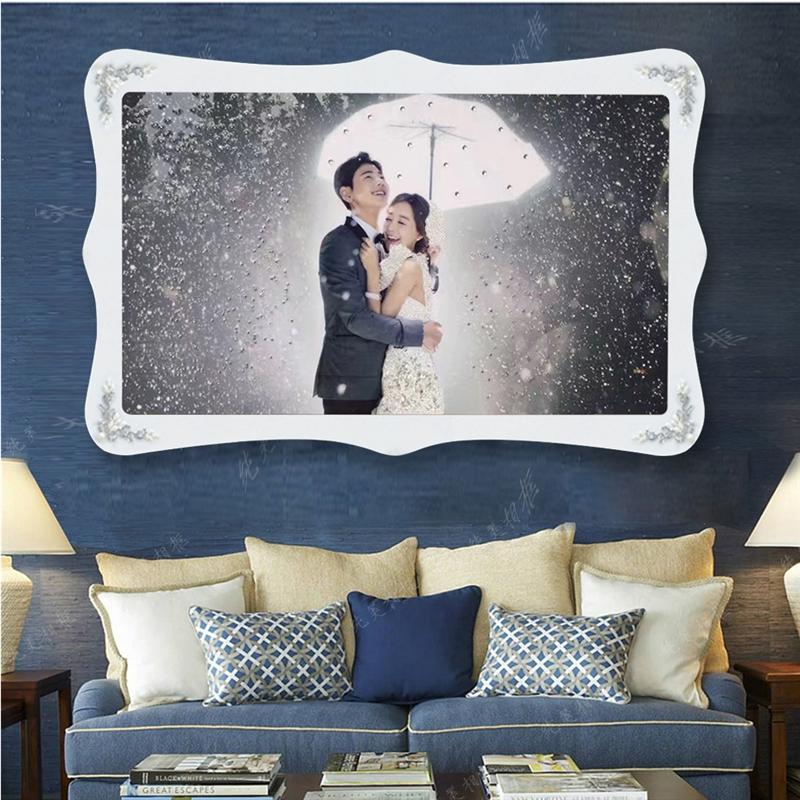 婚纱照水晶相框60寸结婚照放大相框照片制作一体水晶相框挂墙 一般在付款后3-90天左右发货,具体发货时间请以与客服协商的时间为准
