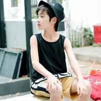 童装男童夏季背心儿童无袖T恤男孩中大童韩夏装上衣