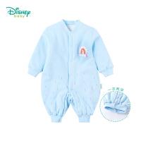 迪士尼Disney童装婴儿连体衣秋冬新款索菲亚保暖夹棉爬服女宝宝哈衣184L758