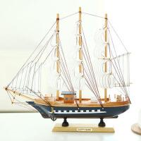 木质帆船模型地中海海盗船轮船手工制作帆船摆件工艺礼品