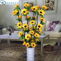 向日葵假花新房插花居家客厅干枝室内落地仿真太阳向日葵装饰干花干花花假花北欧
